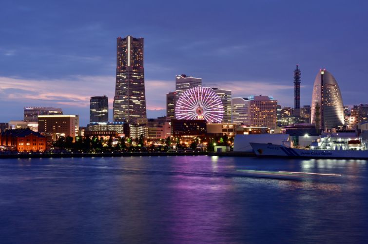 architecture asia Asian asians buildings City citylife cityscapes Japan skyline skylines skyscrapers Yokohama wallpaper