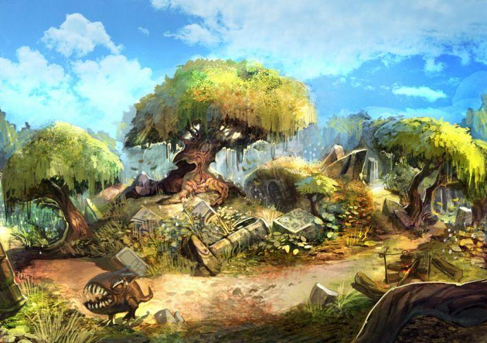 DRAGON NEST mmo rpg anime fighting action adventure fantasy wallpaper