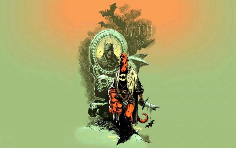 HELLBOY action fantasy comics superhero demon monster sci-fi hell batman wallpaper