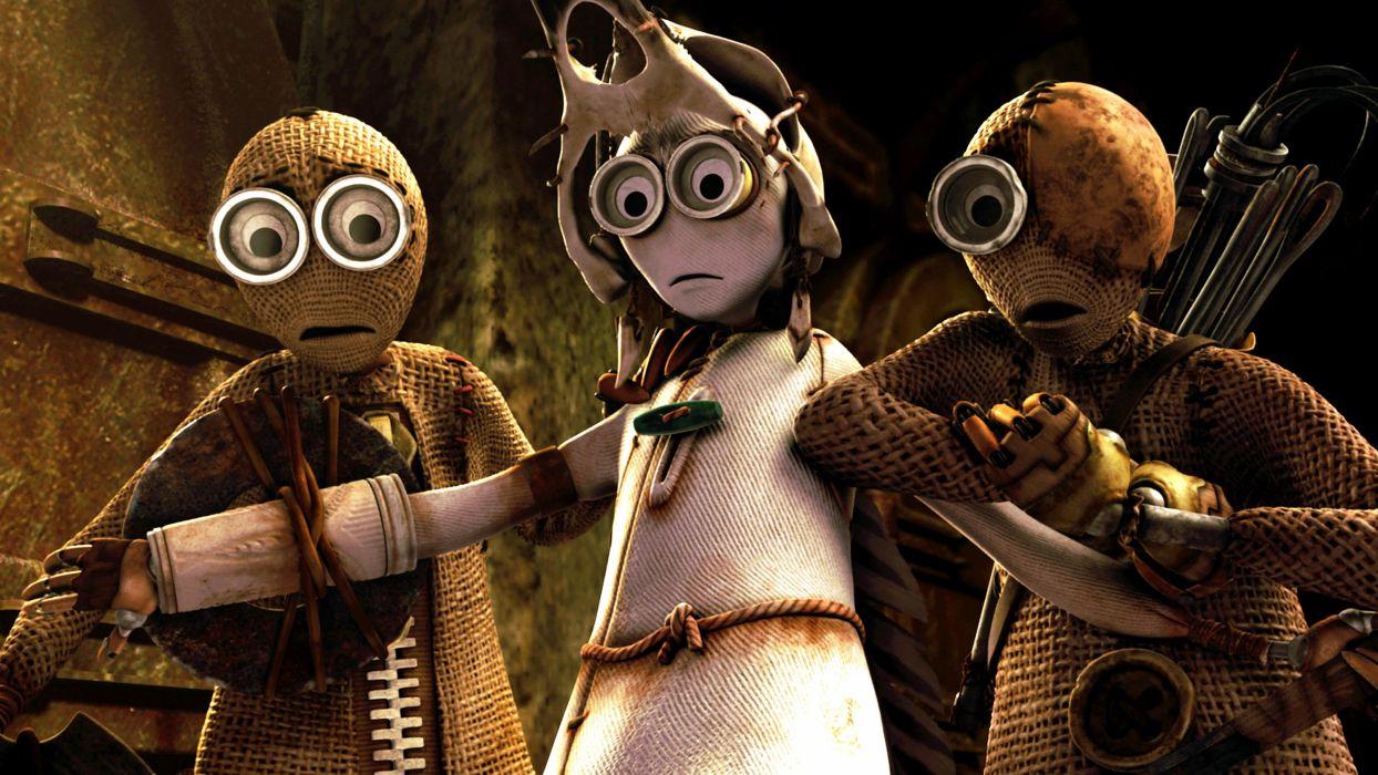 9-NINE apocalyptic sci-fi animation action adventure nine robot doll family wallpaper