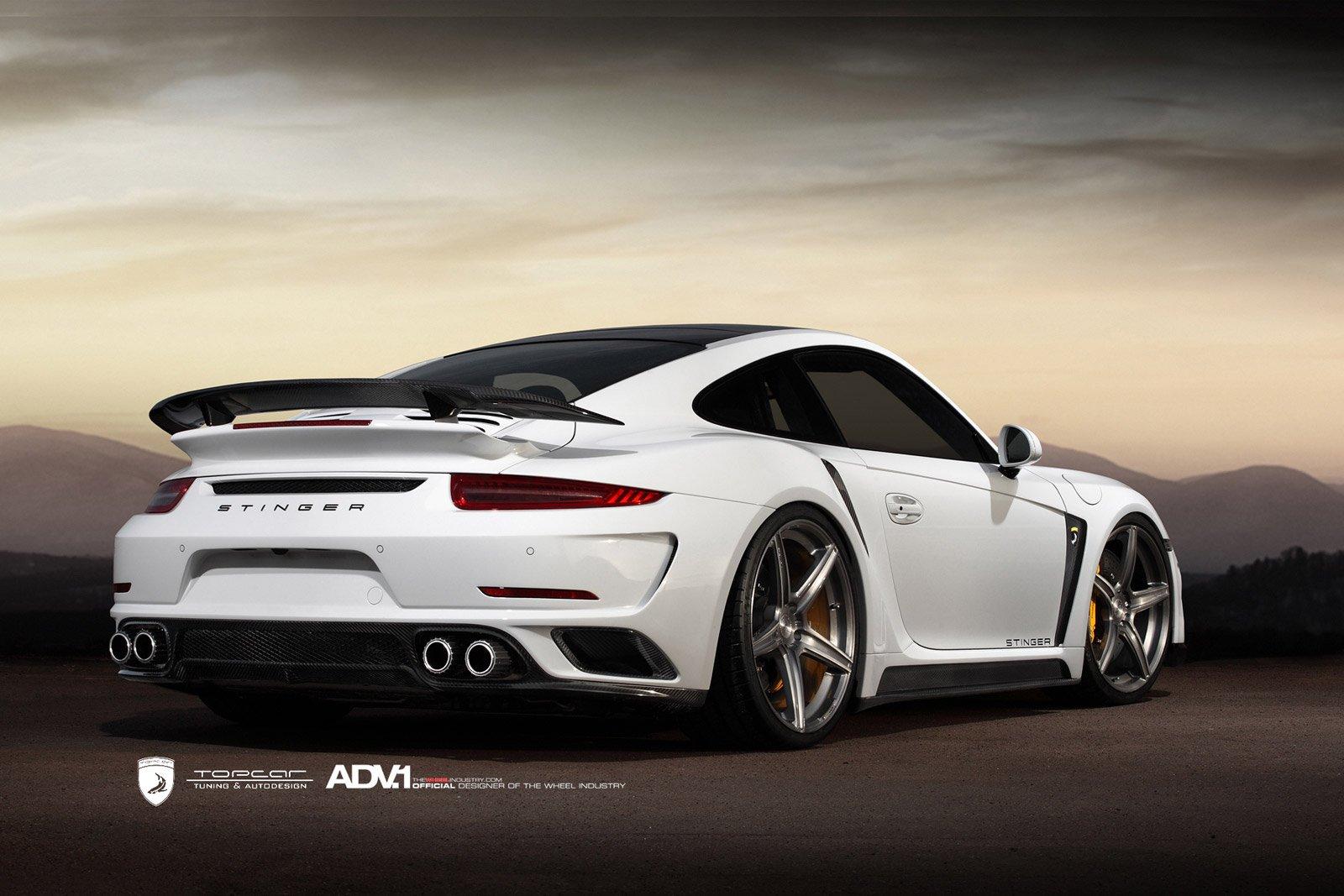 2014 Adv1 Porsche 991 Turbo Topcar White Supercars Wheels