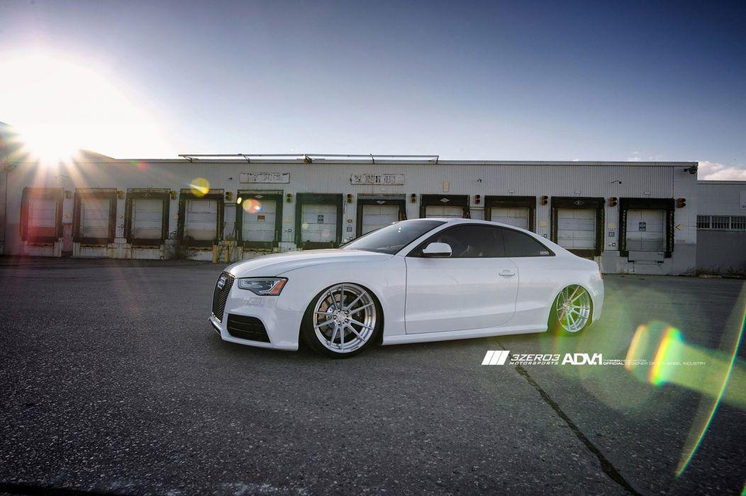 2014 ADV1 AUDI RS5 white supercars wheels wallpaper