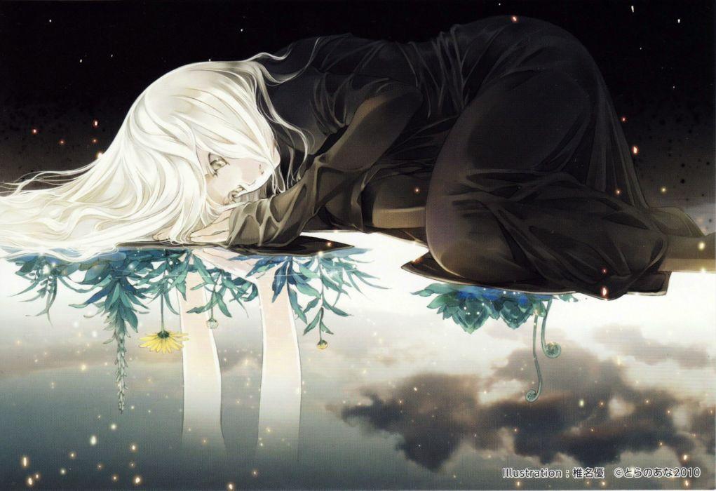 Anime Girl Flower Alone Wallpaper 3447x2363 547524 Wallpaperup