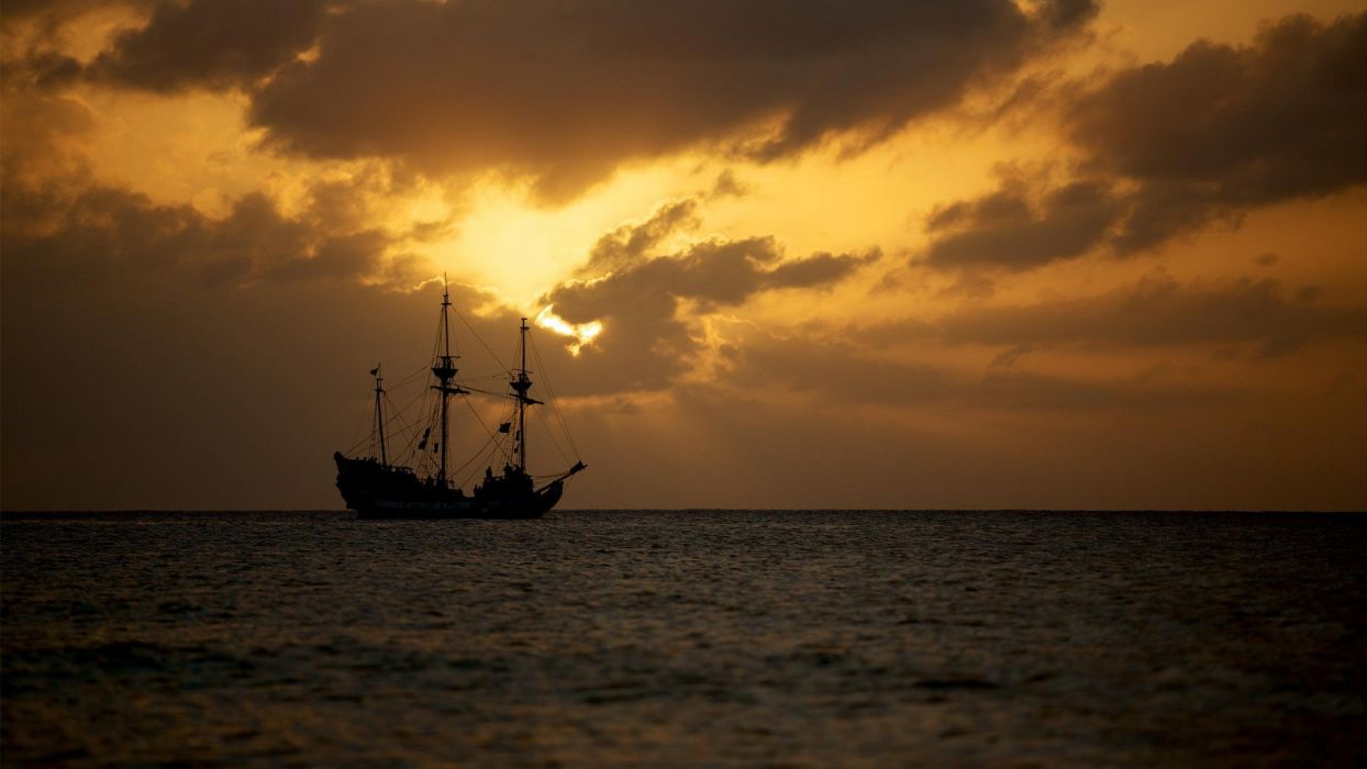 caught-some-caribbean-pirates-sunset wallpaper