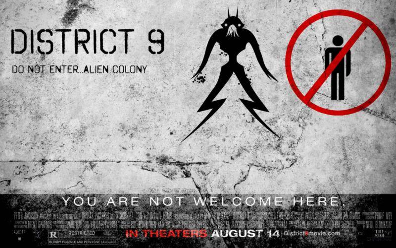 DISTRICT-9 sci-fi alien futuristic action thriller extraterrestrial nine district poster wallpaper