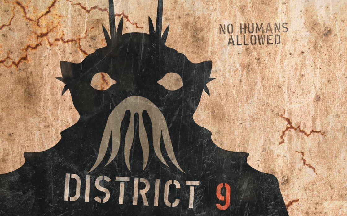 DISTRICT-9 sci-fi alien futuristic action thriller extraterrestrial nine district wallpaper