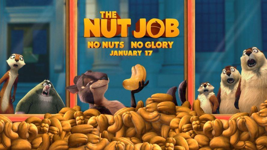 NUT-JOB animation squirrel comedy family nut job wallpaper
