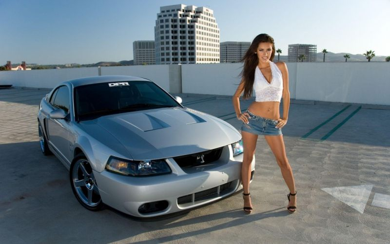 WOMEN AND MACHINES - car girl brunette skirt wallpaper