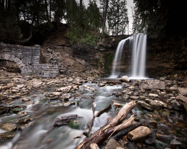 forests landscapes nature rivers Trees waterfalls CANADA wallpaper