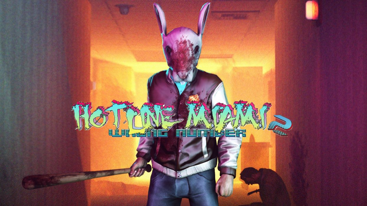 HOTLINE-MIAMI action shooter fighting hotline miami payday blood dark wallpaper