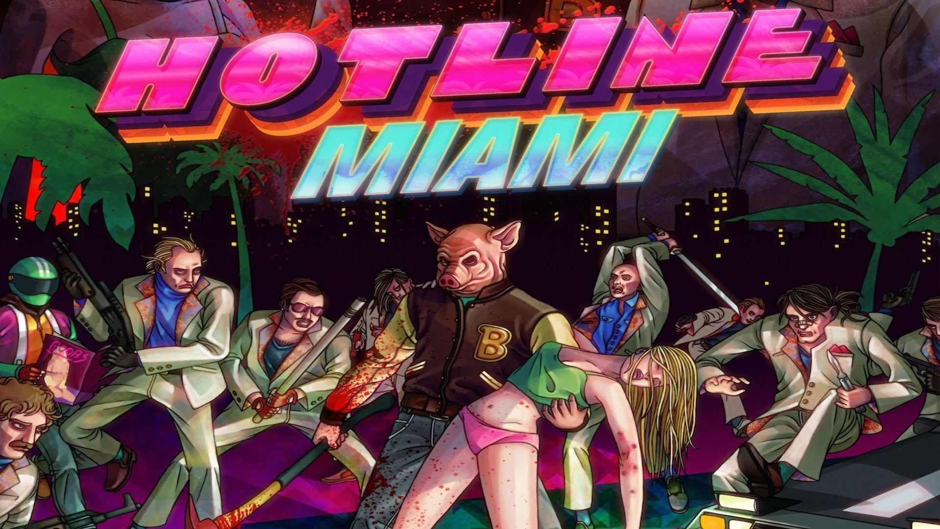 Hotline Miami Wallpaper 1920x1080: HOTLINE-MIAMI Action Shooter Fighting Hotline Miami Payday
