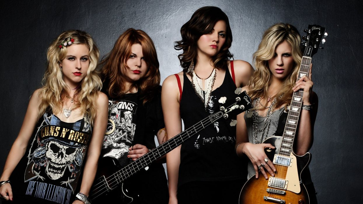 THE-DONNAS garage rock hard donnas guitar wallpaper