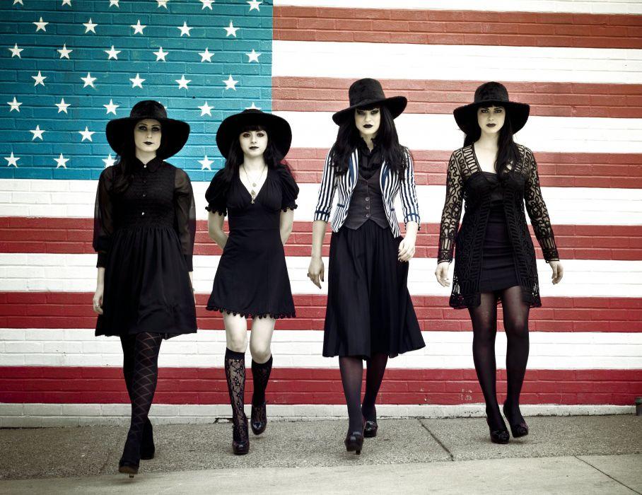 BLACK-BELLES garage rock goth gothic alternative black belles wallpaper