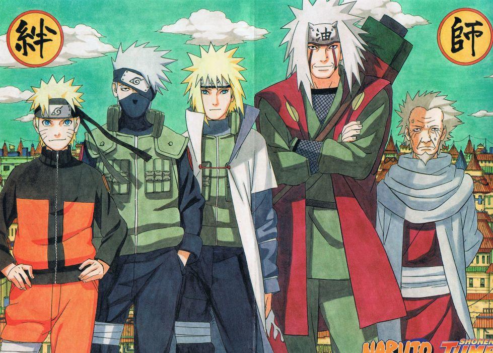 jump Naruto Uzumaki Kakashi Hatake Namikaze  wallpaper