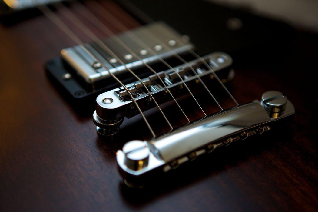 electric gibson fender Guitar reflection strings macro music art wallpaper