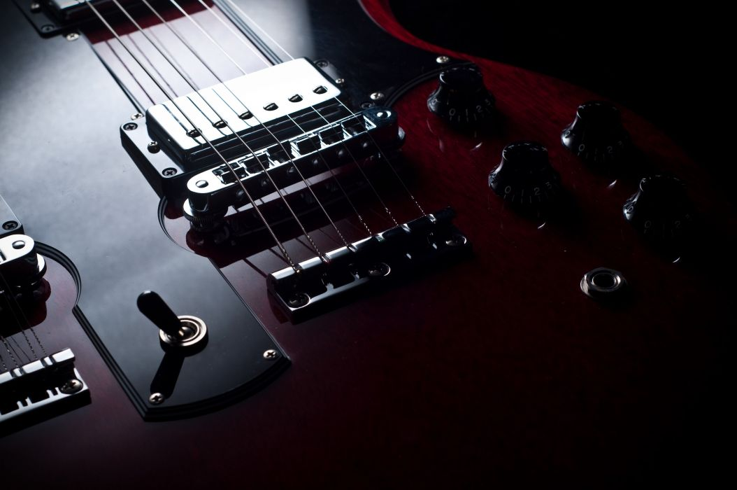 electric gibson fender Guitar reflection strings macro music art wallpaper