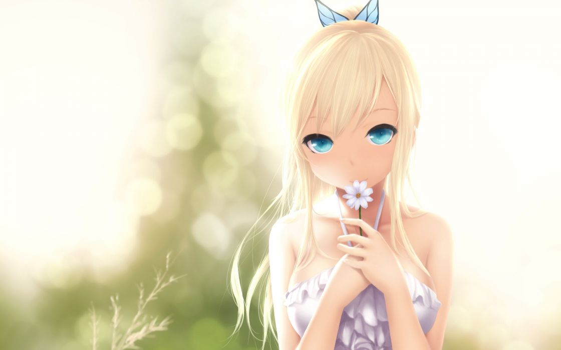 anime girl happy cute animated manga fantasy wallpaper
