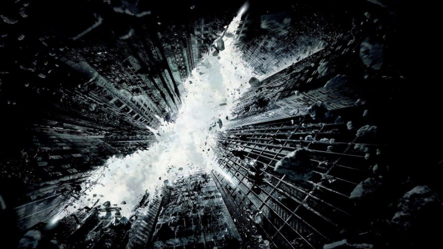 BATMAN - dark knight rises movie city destruction wallpaper
