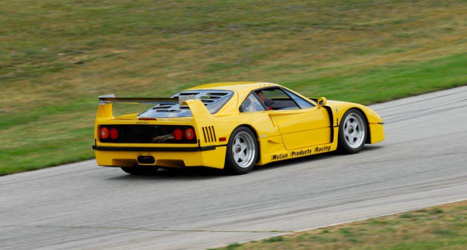 Ferrari F40 supercars cars jaune italia wallpaper