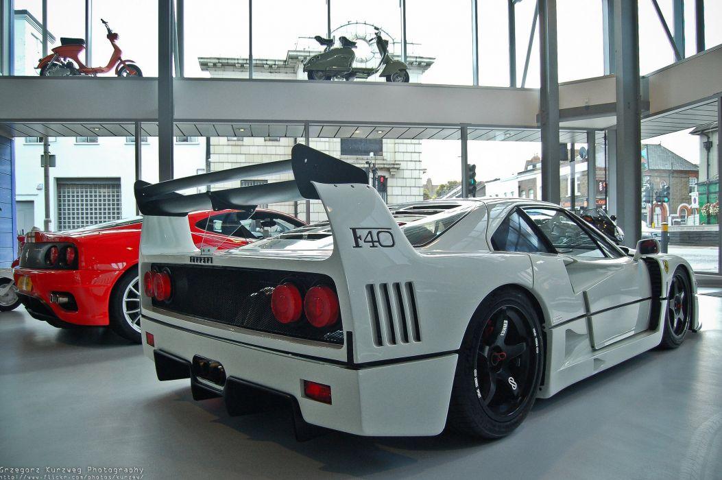 Ferrari F40 supercars cars white italia wallpaper