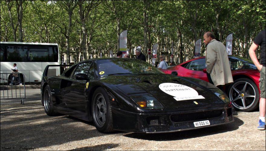 Ferrari F40 supercars cars black italia wallpaper