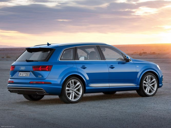 2015 Audi Q7 cars suv germany blue wallpaper