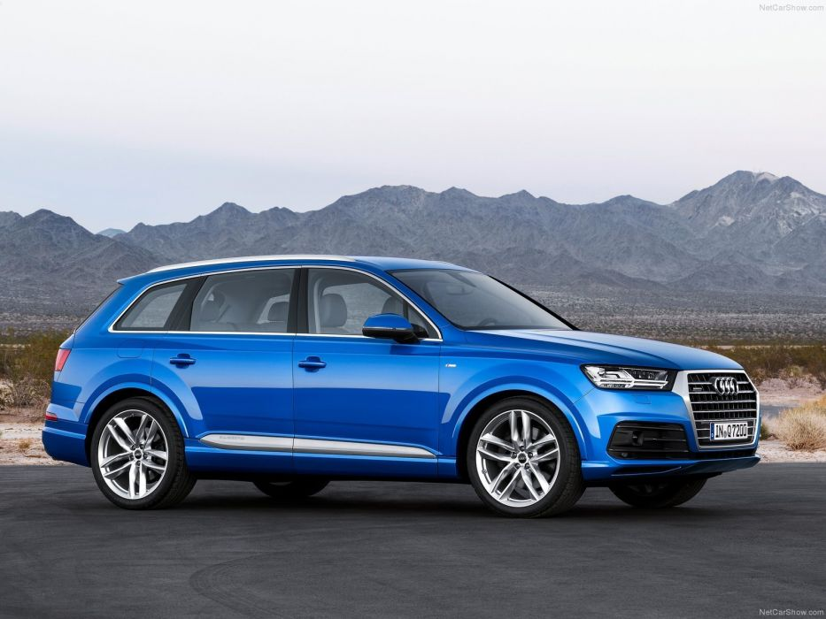 2015 Audi Q7 cars suv germany blue wallpaper