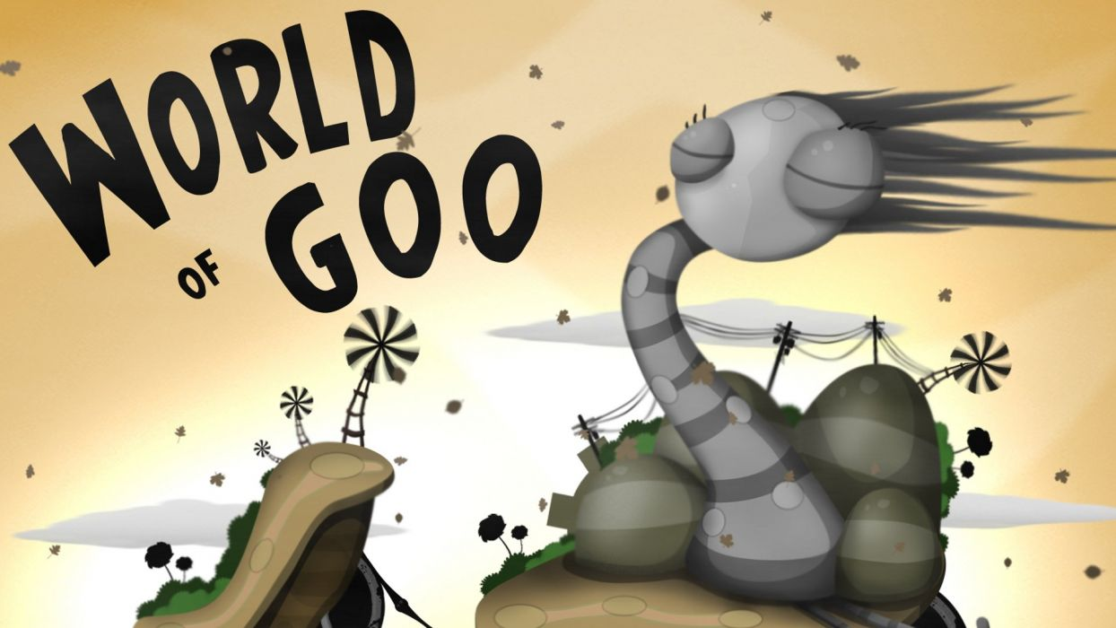 WORLD-OF-GOO physics puzzle construction creation world goo wallpaper