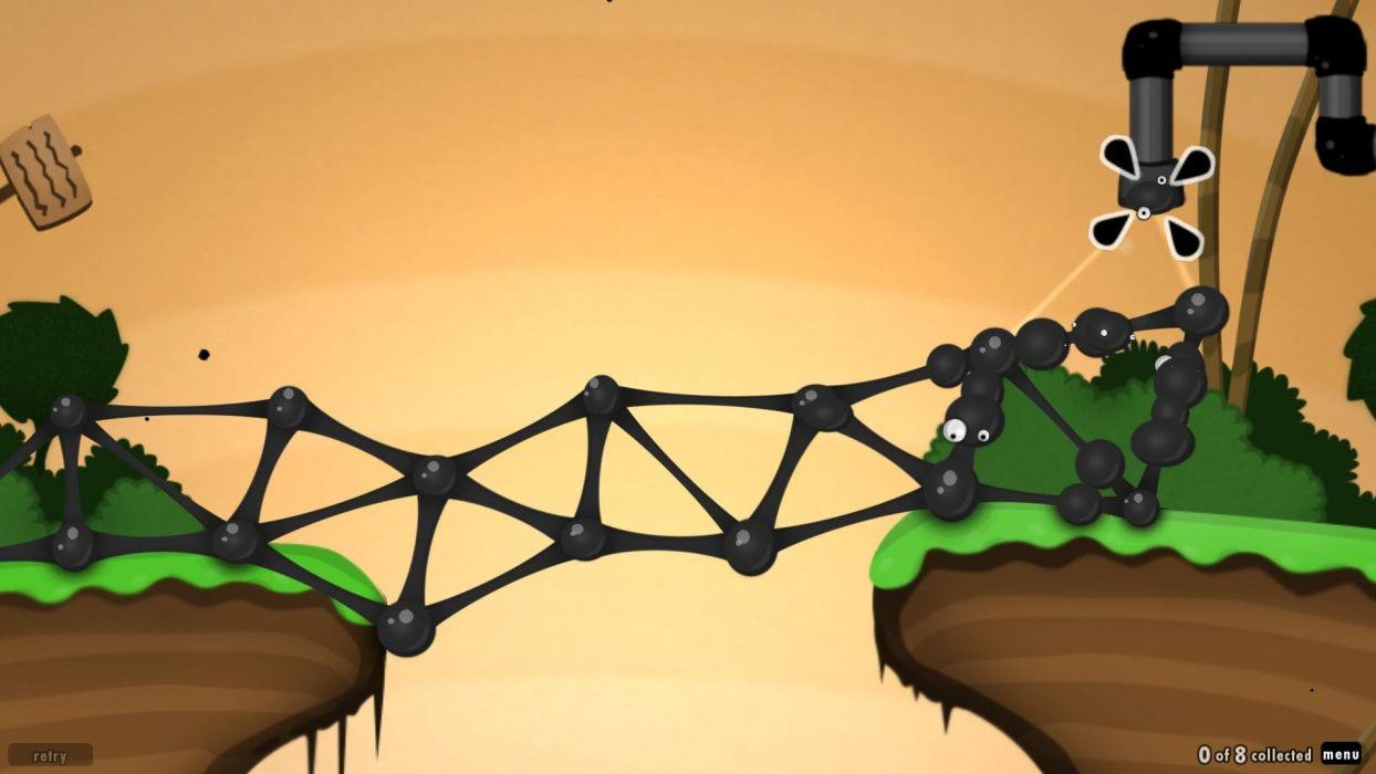 WORLD-OF-GOO physics puzzle construction creation world goo wallpaper