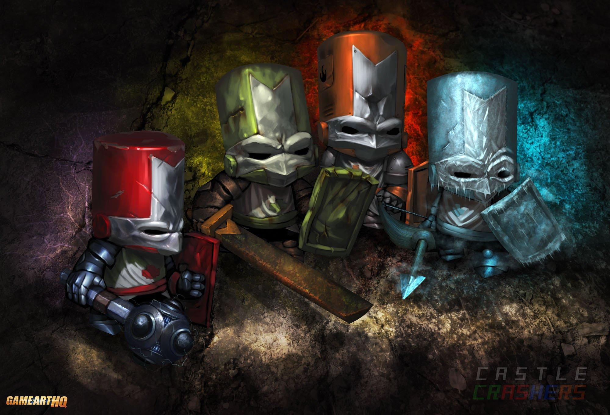 castle crashers fighting action rpg fantasy scrolling