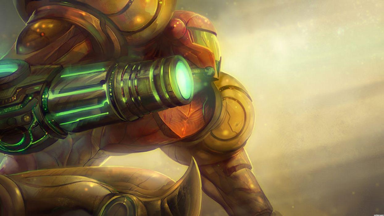Metroid Prime Samus Aran Power Suit Power Armor Arm Cannon wallpaper