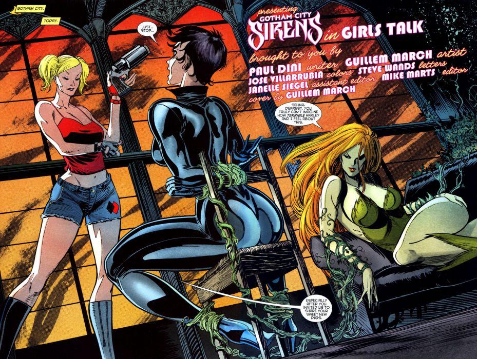 e82d735e4830f6 GOTHAM-CITY-SIRENS d-c dc-comics catwoman poison ivy harley quinn superhero  gotham