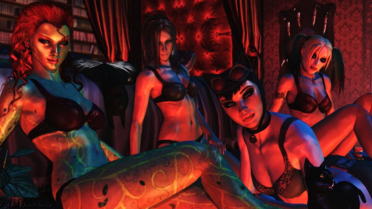 Gotham City Sirens D C Dc Comics Catwoman Poison Ivy Harley Quinn
