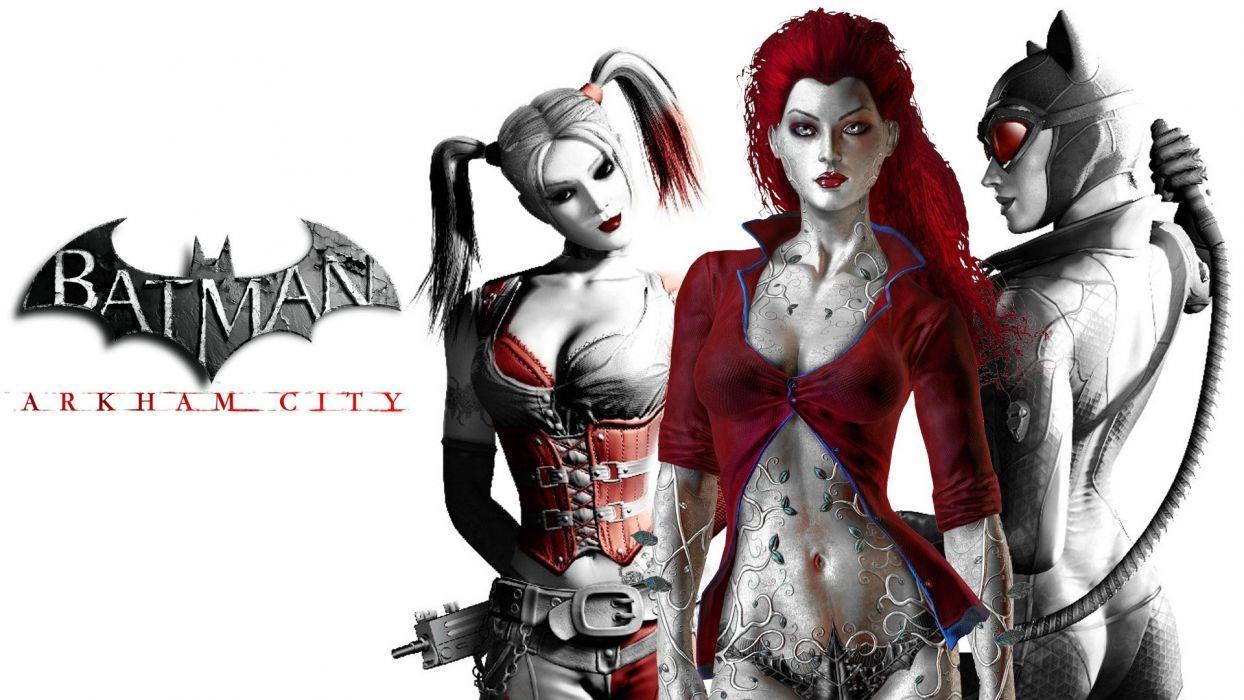 GOTHAM-CITY-SIRENS d-c dc-comics catwoman poison ivy harley quinn superhero gotham city sirens batman nights arkham wallpaper