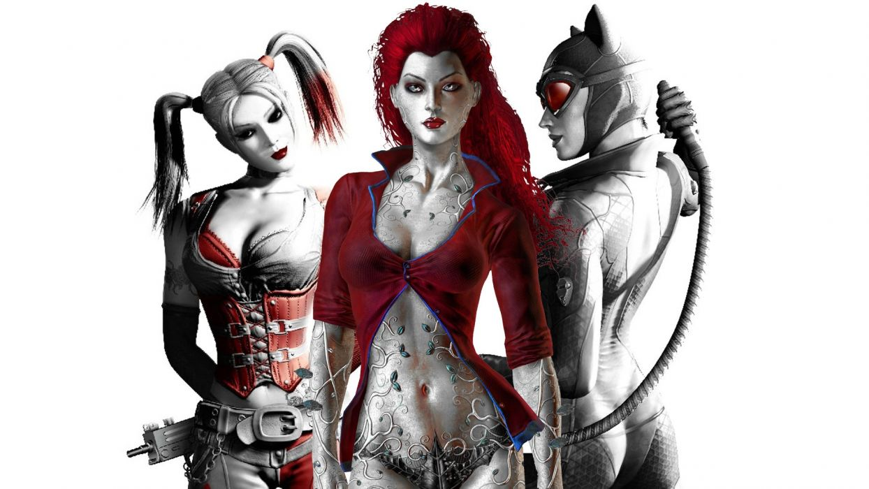 Gotham City Sirens D C Dc Comics Catwoman Poison Ivy Harley Quinn