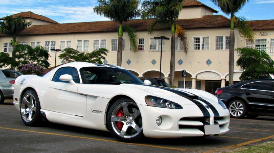 Dodge gts muscle srt Supercar Viper cars usa white wallpaper