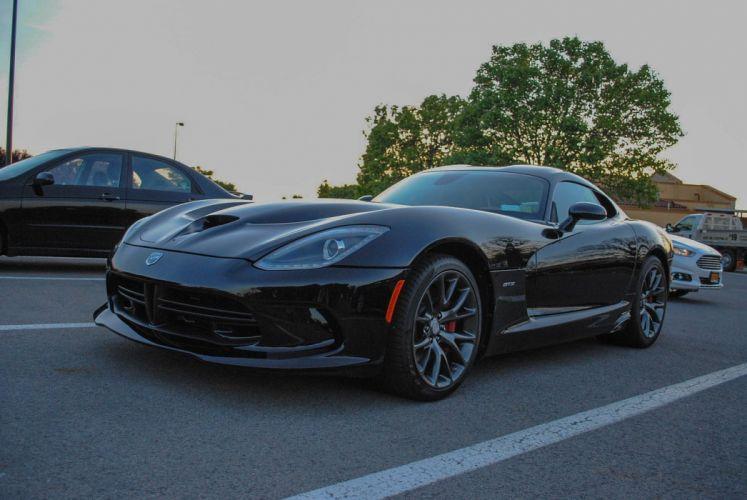 Dodge gts muscle srt Supercar Viper cars usa black wallpaper
