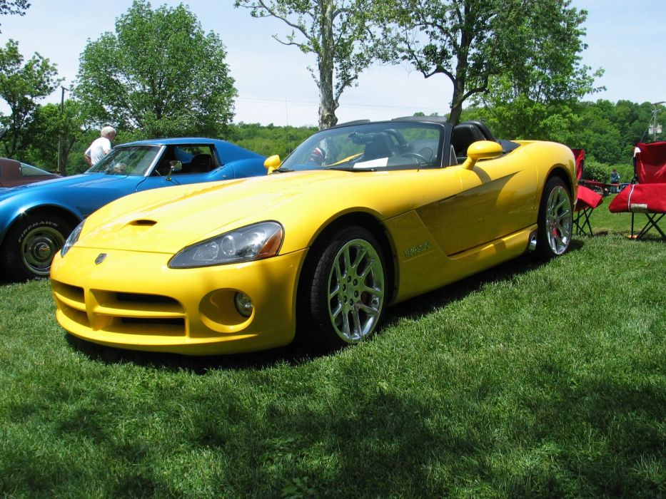 Dodge gts muscle srt Supercar Viper cars usa yellow jaune wallpaper