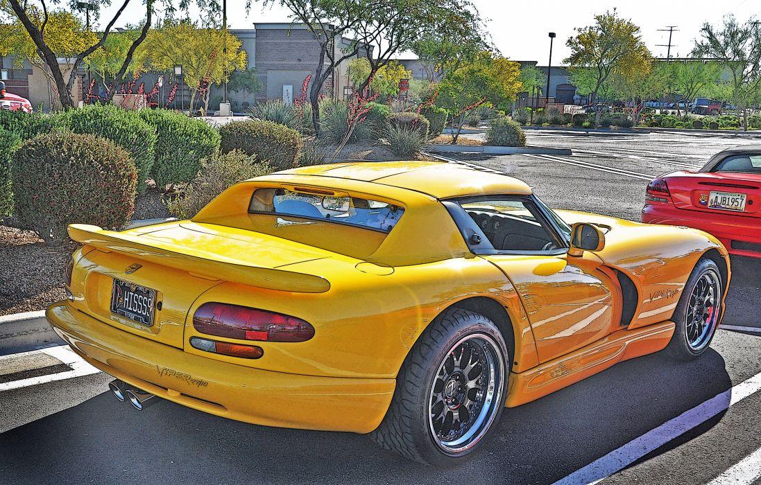 Dodge gts muscle srt Supercar Viper cars usa yellow jaune wallpaper