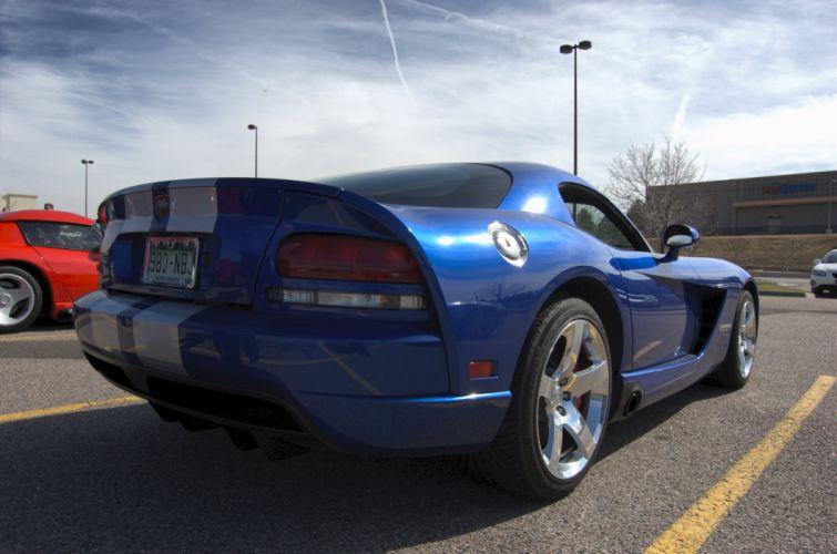 Dodge gts muscle srt Supercar Viper cars usa blue bleu wallpaper