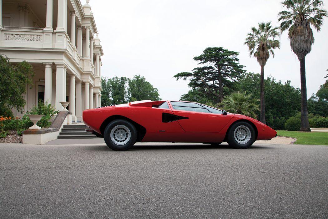 1974 Lamborghini Countach LP400 UK-spec supercar classic wallpaper