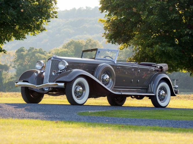 1933 Chrysler Custom Imperial Dual Cowl Phaeton LeBaron (C-L) luxury retro wallpaper
