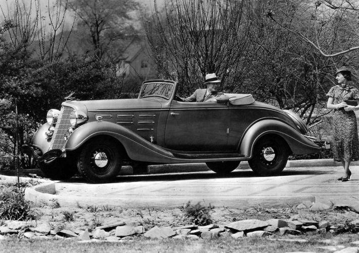 1934 Hudson DeLuxe Eight Convertible Coupe (Series-LU) retro wallpaper