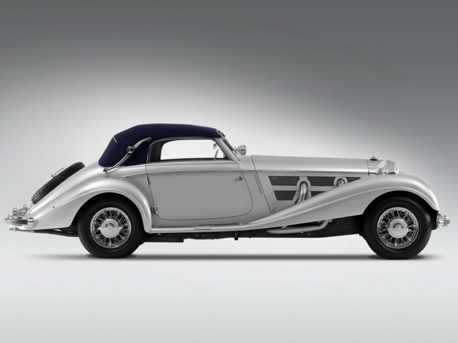 1937 Mercedes Benz 540K Cabriolet A luxury retro wallpaper