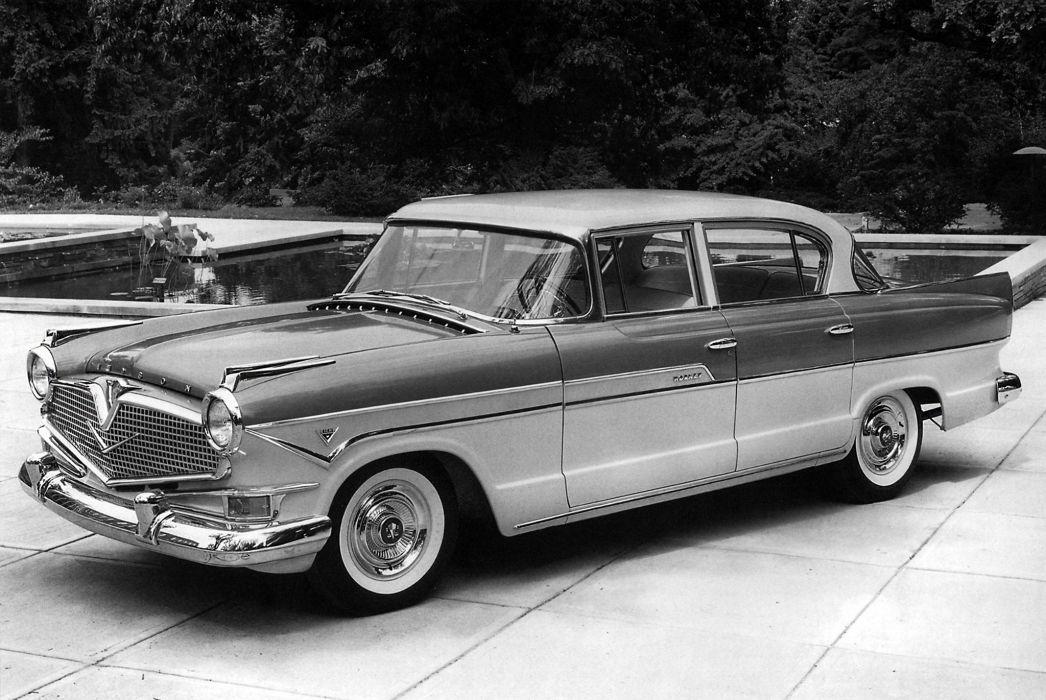 1957 Hudson Hornet Custom Sedan (35785-2) retro luxury wallpaper
