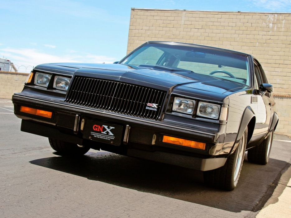 1987 Buick Regal J47 Grand National GNX Coupe muscle wallpaper