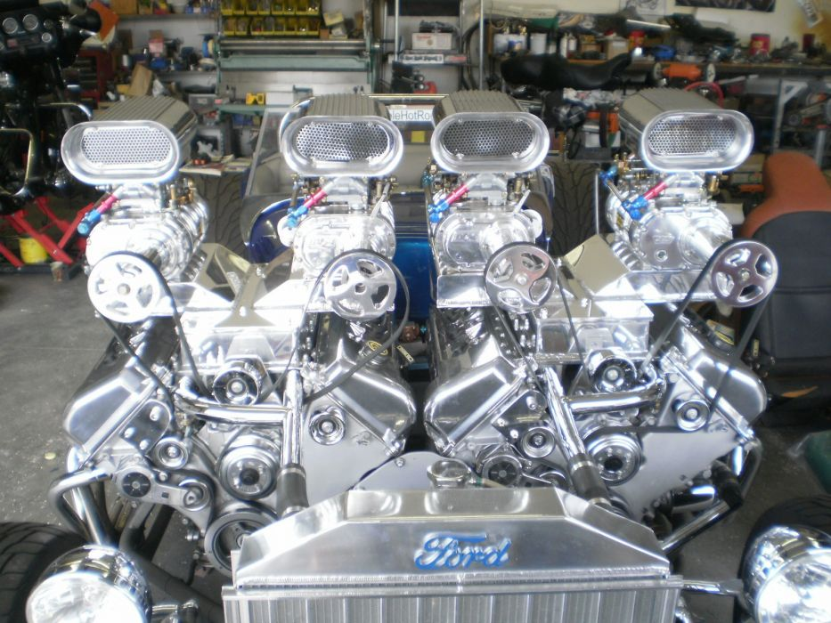 Double Trouble Hot Rod model-t rods ford blower engine retro wallpaper