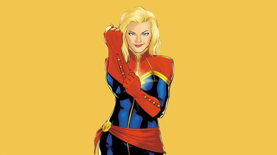Ms-MARVEL marvel superhero sexy babe blonde wallpaper