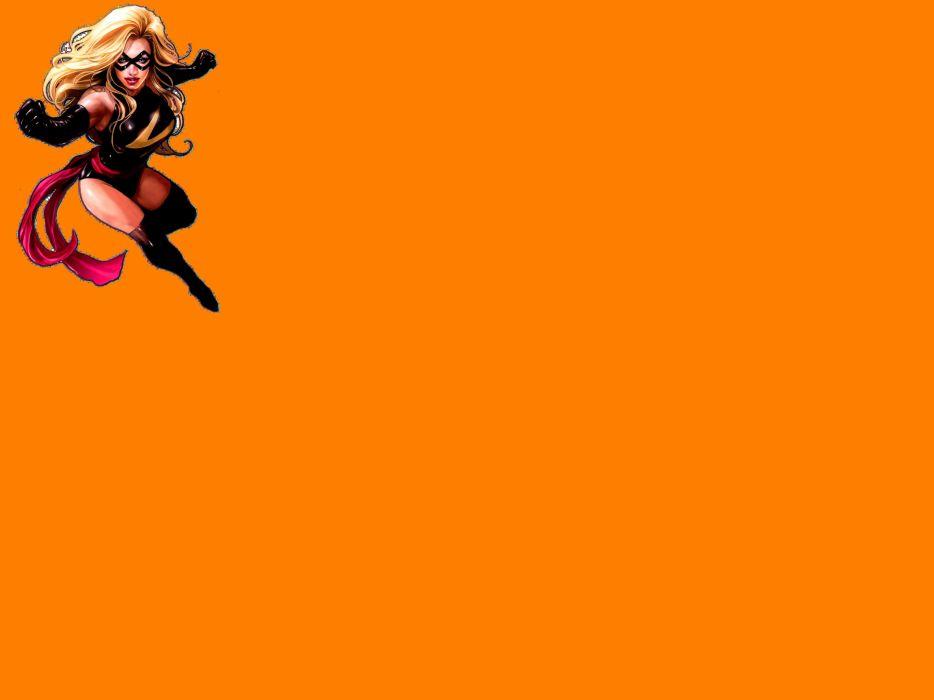 Ms-MARVEL marvel superhero sexy babe wallpaper