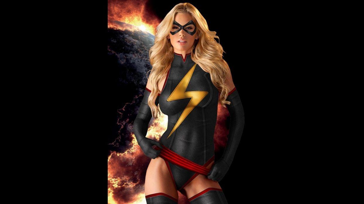 Ms-MARVEL marvel superhero sexy babe cosplay fetish wallpaper